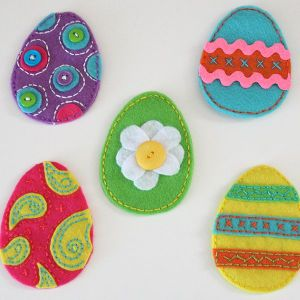 3. Felting Easter Eggs