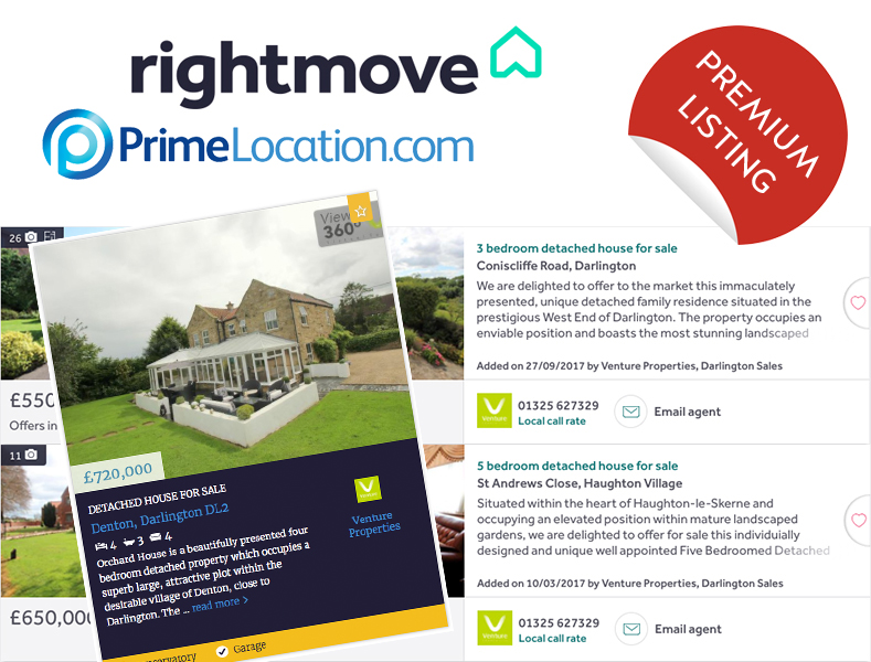 Free Premium Listing on Rightmove and Primelocation